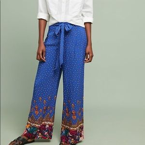 Anthropologie Women's Printed Wide-Leg Trousers